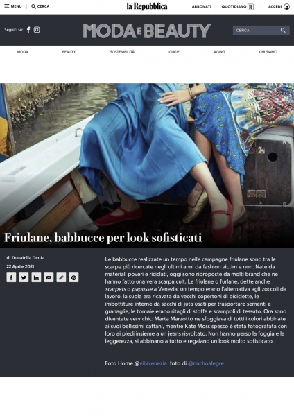 https://www.repubblica.it/moda-e-beauty/2021/04/22/foto/friulane_scarpe_da_avere_look-296582741 22.04.21 ViBi Venezia